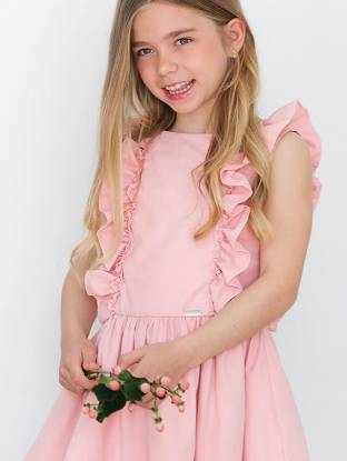Vestido rosa con volantes de Nekenia   Aiana Larocca