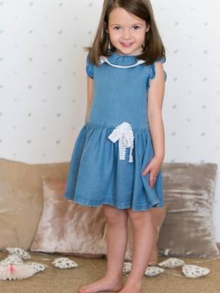 Vestido niña azul denim de Fina Ejerique | Aiana Lar | Aiana Larocca