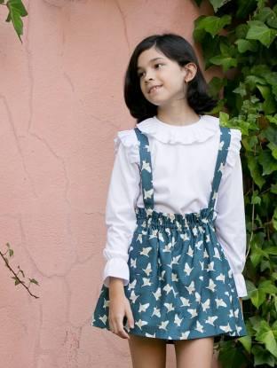 Falda niña tirantes de Baby Yiro | Aiana Larocca