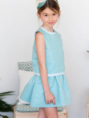 Vestido lino turquesa de Ancar | Aiana Larocca