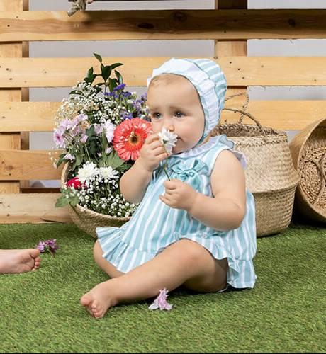 Jesusito bebe a rayas verde de Yoedu | Aiana Larocca