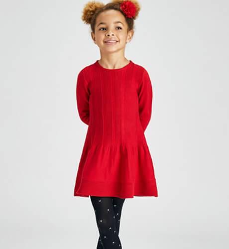Vestido tricot rojo de Mayoral | Aiana Larocca