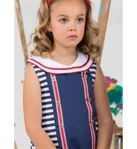 Vestido niña marinero de Marta y Paula | Aiana Larocca