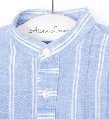 Camisa niño a rayas azul y blanco de Ancar   Aiana Larocca