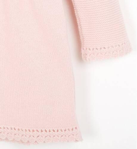 Vestido punto rosa detalle valencie de Martín Aranda   Aiana Larocca