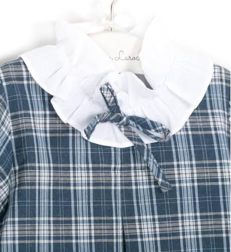 Vestido escocés cuello blanco de Ancar   Aiana Larocca