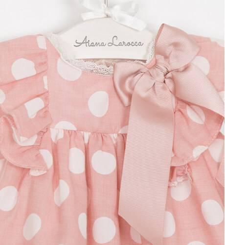 Jesusito bebé rosa lunares de Valentina Bebés | Aiana Larocca
