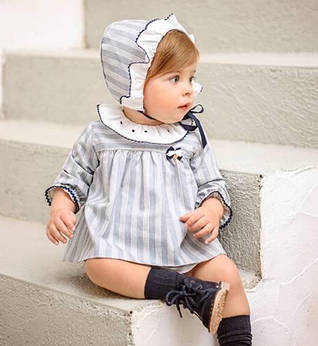 Jesusito bebé a rayas azul de Yoedu | Aiana Larocca