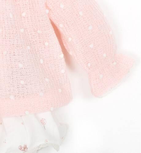 Conjunto bebe Jersey rosa y braguita volantes de Coco Acqua | Aiana Larocca