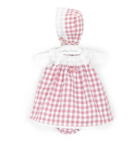 -NUEVO- Jesusito bebé vichy rosa cuello bordado de Valentina Bebés | Aiana Larocca