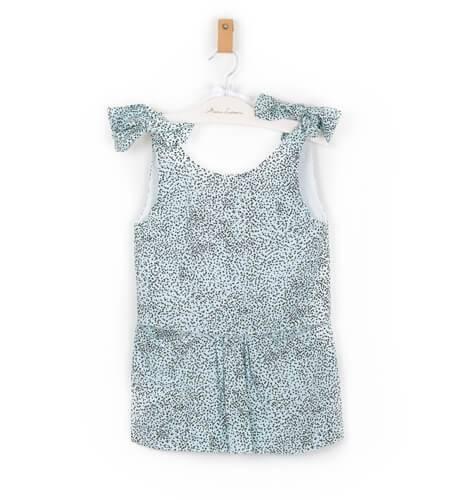 Vestido niña Malena azul de Nueces | Aiana Larocca