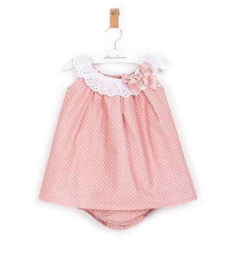 Jesusito rosa topitos blanco de Valentina Bebés | Aiana Larocca