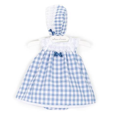 -NUEVO- Jesusito bebé vichy azul cuello bordado de Valentina Bebés | Aiana Larocca