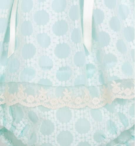Jesusito bebé bordado verde de Valentina Bebés | Aiana Larocca