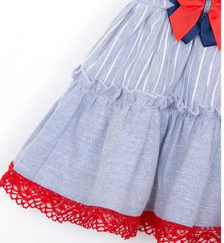 Vestido niña a rayas talle bajo Dolce Petit | Aiana Larocca
