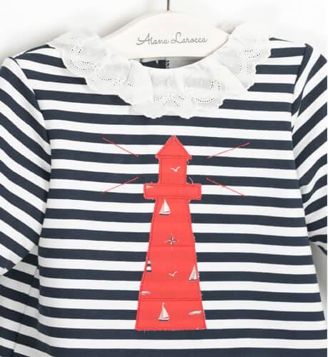 Conjunto bebé niña marinero faro de Valentina bebés | Aiana Larocca