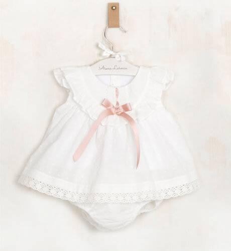 Jesusito bebé plumeti crudo pasacinta rosa empolvado de Valentina Bebés | Aiana Larocca