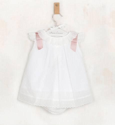 4d032a489 Jesusito plumeti crudo lazos rosa empolvado de Valentina Bebés