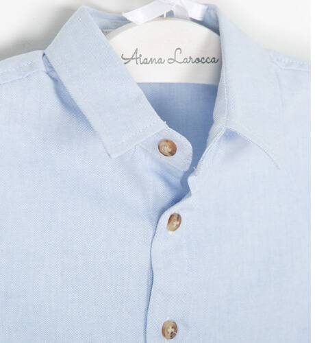 Camisa niño azul de Fina Ejerique | Aiana Larocca
