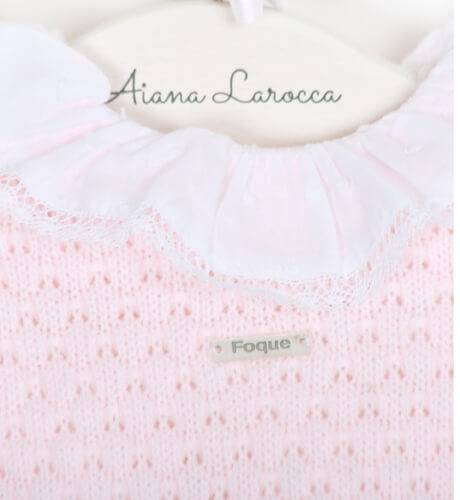 Conjunto bebé con bolsita regalo rosa de Foque | Aiana Larocca