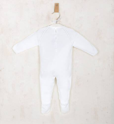 Pelele bebe largo blanco de Wedoble   Aiana Larocca