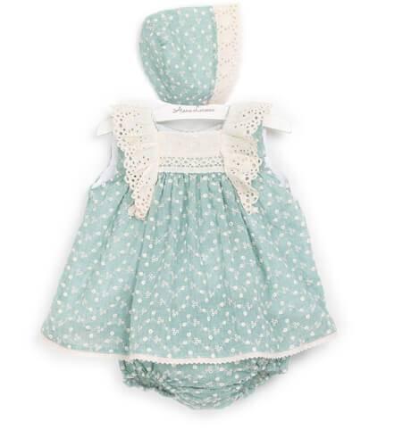 Jesusito verde bordado de Valentina Bebés | Aiana Larocca