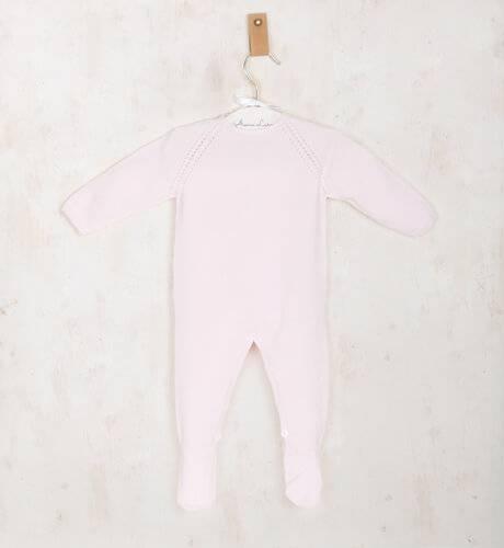 Pelele bebe largo rosa de Wedoble | Aiana Larocca