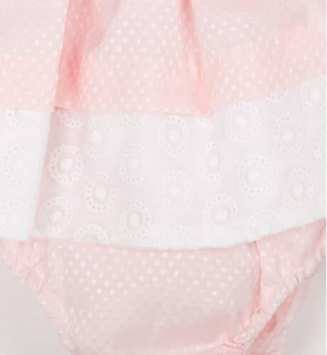 Jesusito bebe rosa con volantes en blanco de Dolce Petit | Aiana Larocca