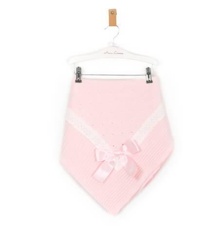 Toquilla inglesa rosa con puntilla de Rochy   Aiana Larocca
