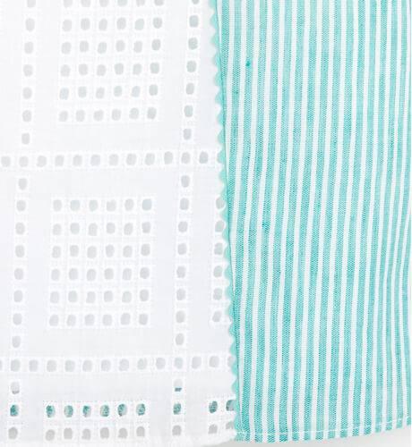 Vestido niña evasé a rayas verdes de Marta y Paula | Aiana Larocca