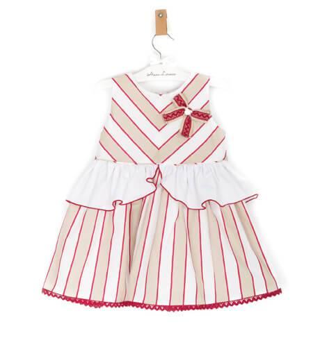Vestido niña falda a rayas de Dolce Petit | Aiana Larocca