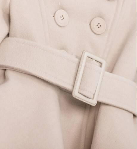 Abrigo niña muflón beige de Nekenia | Aiana Larocca