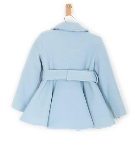 Abrigo niña muflón azul de Nekenia | Aiana Larocca