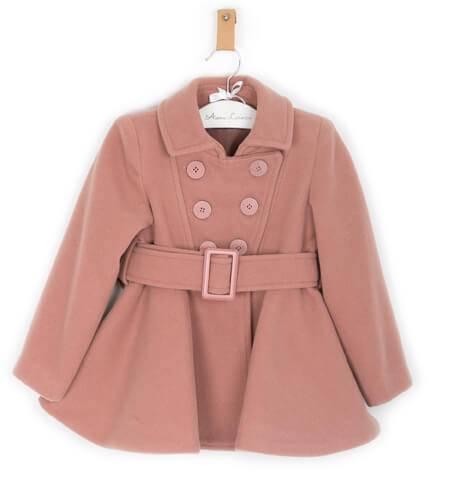 Abrigo niña muflón rosa de Nekenia | Aiana Larocca