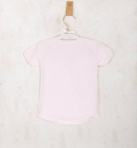 Ranita rosa manga corta de wedoble | Aiana Larocca
