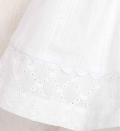 Vestido blanco bordado corte cintura de Nekenia | Aiana Larocca