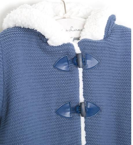 Trenca bebé borreguito azul de Foque | Aiana Larocca