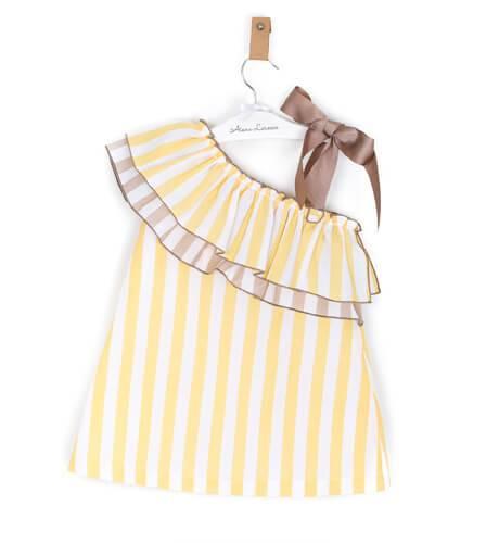 -NUEVO- Vestido niña asimétrico amarillo de Rochy | Aiana Larocca