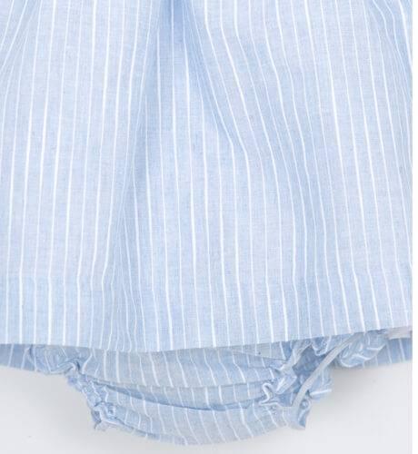Jesusito bebé niña a rayas azul de Boometi | Aiana Larocca