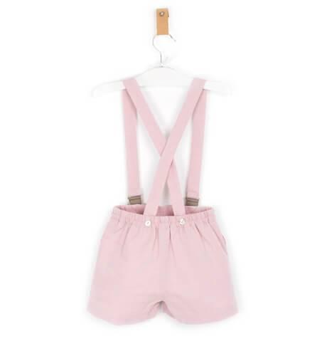 Pantalón tirantes villela rosa | Aiana Larocca