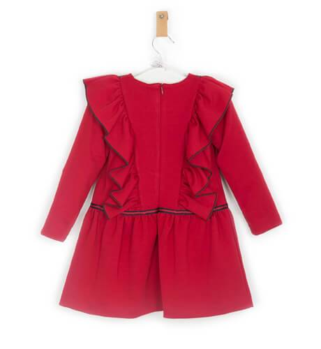 Vestido rojo volantes de Rochy | Aiana Larocca