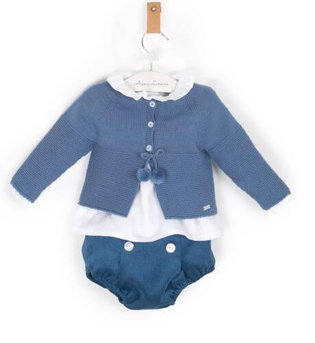 Conjunto bebé con chaqueta azul | Aiana Larocca
