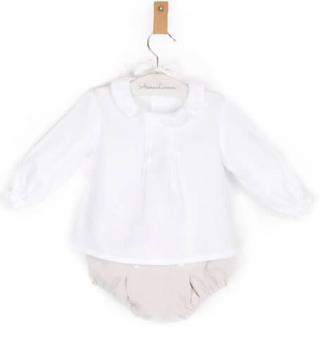 Conjunto bebé con chaqueta camel | Aiana Larocca