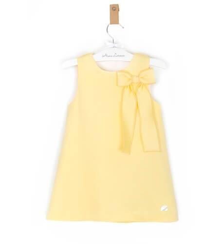 -NUEVO- Vestido niña amarillo lazo de Eve Children   Aiana Larocca