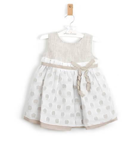 Vestido niña tostado de Rochy | Aiana Larocca