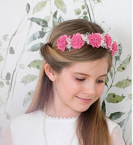 Corona flores rosa Siena | Aiana Larocca