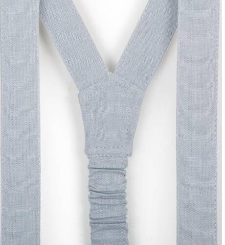 Pantalón niña gris con tirantes de Boometi | Aiana Larocca