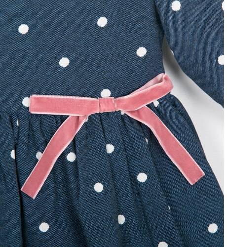 Vestido azul topitos de Fina Ejerique | Aiana Larocca