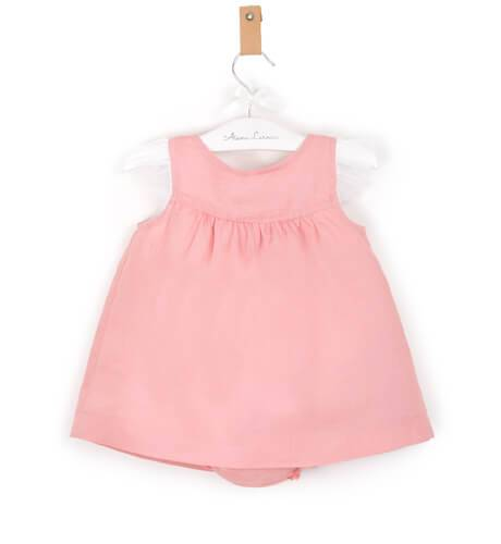 -NUEVO- Jesusito bebé niña lino rosa de Boometi | Aiana Larocca