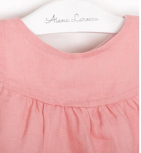 Jesusito bebé niña lino rosa de Boometi | Aiana Larocca